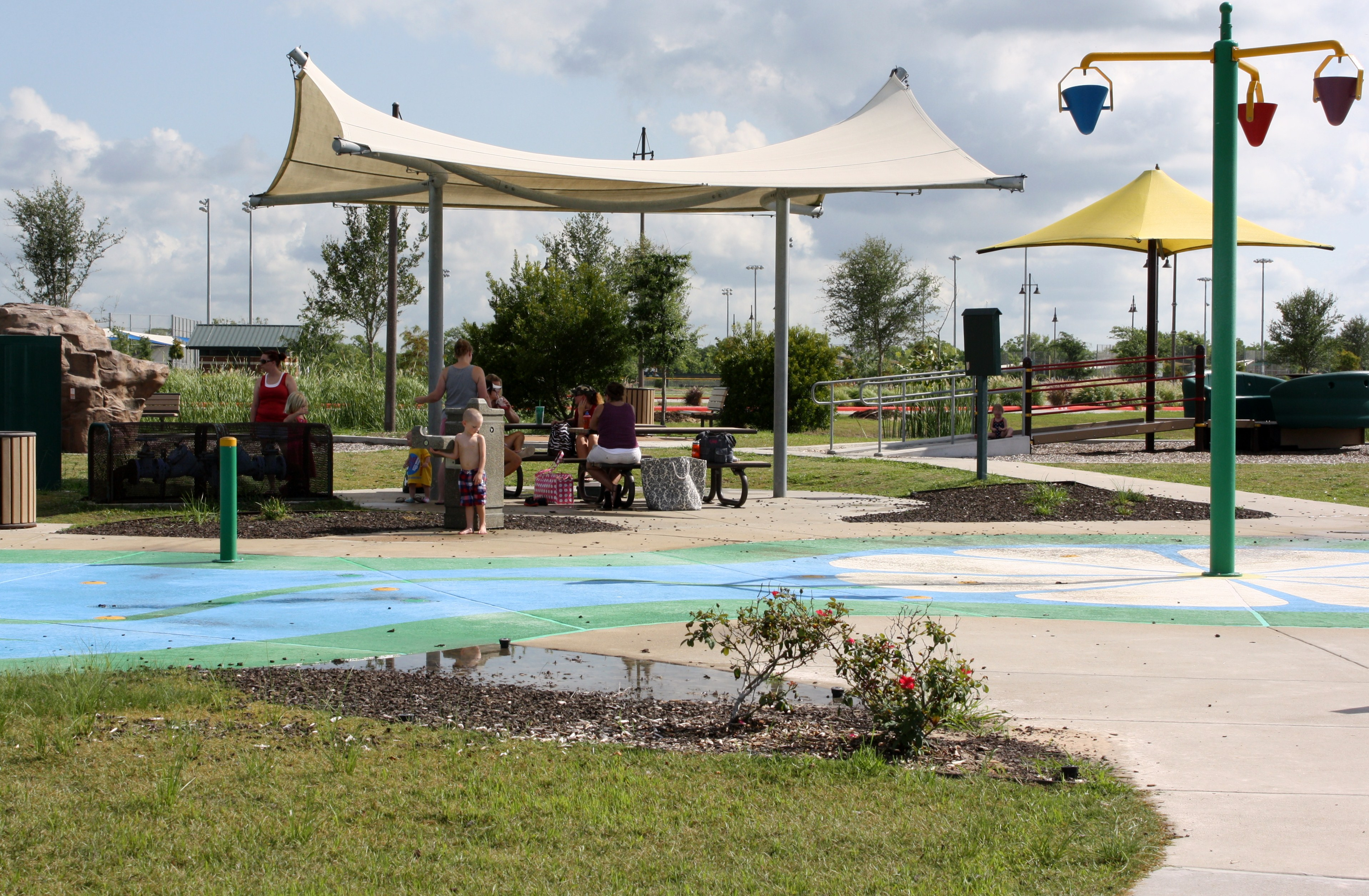 White Canopy and splash pad